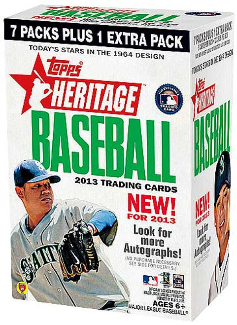MLB 2013 Topps Heritage Baseball Cards Trading Card Blaster Box