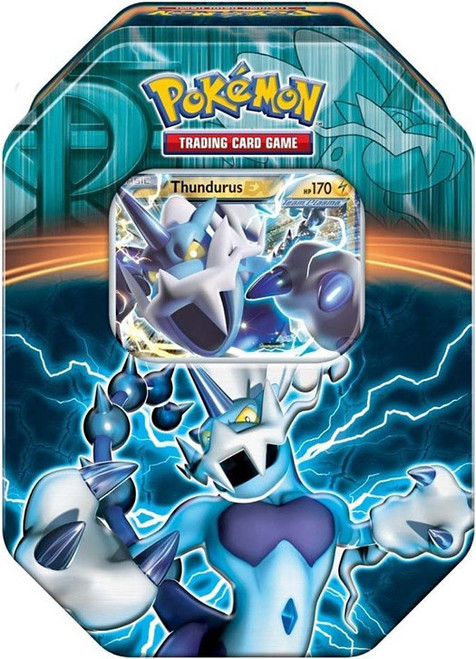Pokemon Black & White Fall 2013 Team Plasma Thundurus EX Collector Tin