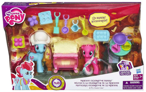My Little Pony Friendship is Magic Crystal Empire Princess Celebration Bakery Figure Set