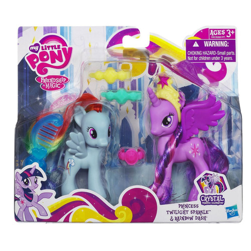 My Little Pony Friendship is Magic Crystal Empire Twilight Sparkle & Rainbow Dash Figure 2-Pack