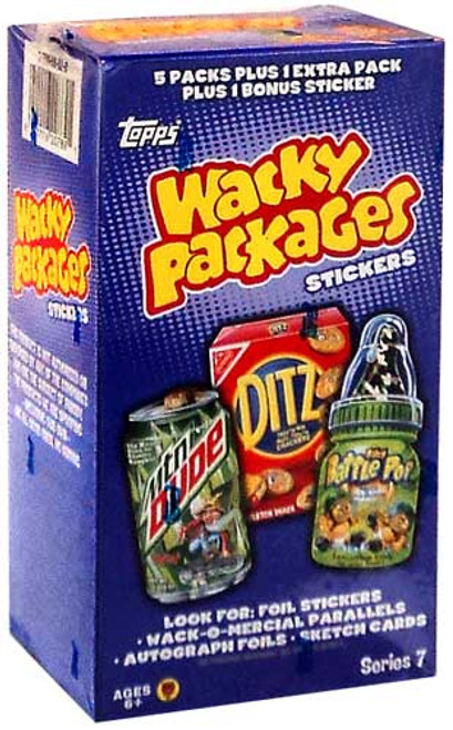 Wacky Packages Series 7 Trading Card Sticker Value Box
