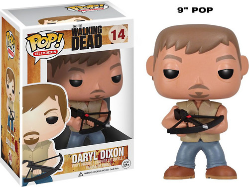 Walking Dead Funko POP! Television Daryl Dixon 9-Inch Vinyl Figure #14 [Over-Sized]