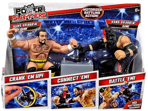WWE Wrestling Power Slammers Hand Grabbin' CM Hand Grabbin' Punk & Kane Action Figure 2-Pack