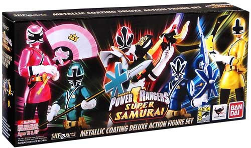 Power Rangers Super Samurai S.H. Figuarts Metallic Coating Deluxe Action Figure Set Exclusive