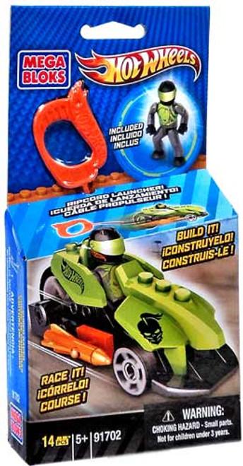Mega Bloks Hot Wheels Green Ripcord Racer Set #91702