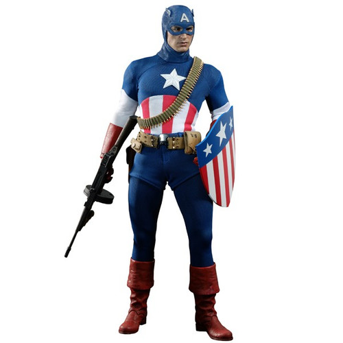 The First Avenger Movie Masterpiece Captain America Exclusive 1/6 Collectible Figure [Star Spangled Man]
