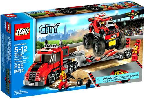 LEGO City Monster Truck Transporter Set #60027