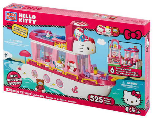 Mega Bloks Hello Kitty Vacation Series Cruise Ship Set #10930