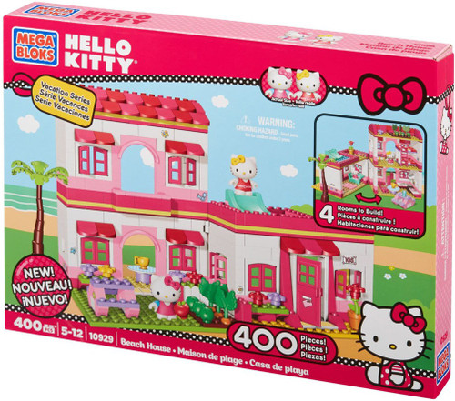 Mega Bloks Hello Kitty Vacation Series Beach House Set #10929