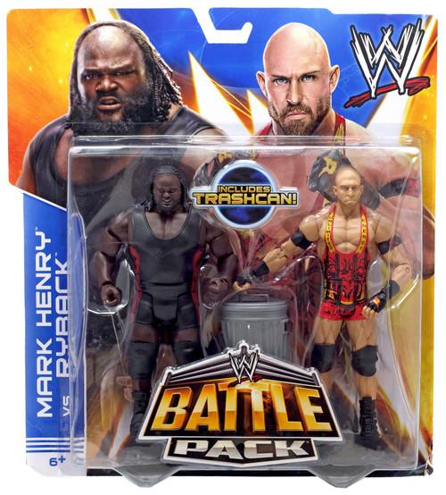 WWE Wrestling Series 25 Mark Henry vs. Ryback Action Figure 2-Pack [Trashcan]