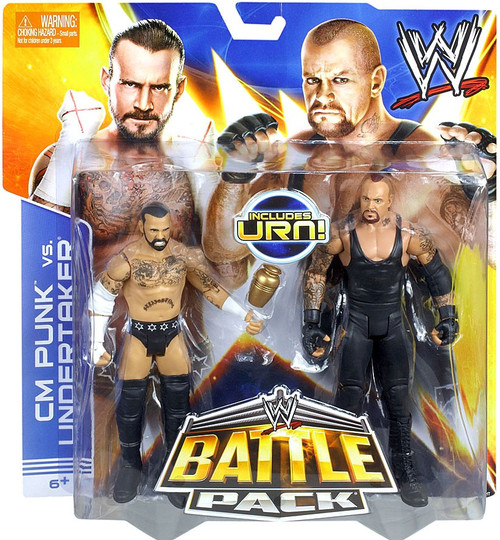 WWE Wrestling Series 25 CM Punk vs. Undertaker Action Figure 2-Pack [Urn]