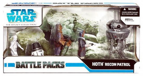 Star Wars The Empire Strikes Back Battle Packs 2008 Legacy Collection Recon Patrol on Hoth Exclusive Action Figure Set
