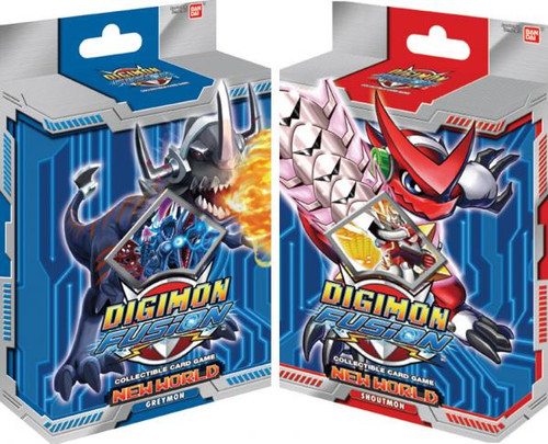 Digimon Fusion Set of 2 Starter Decks [Greymon & Shoutmon]