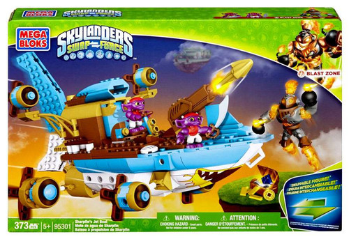 Mega Bloks Skylanders Swap Force Sharpfin's Jet Boat Set #95301