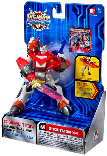 Digimon Fusion Digi-Action Shoutmon Action Figure [X4]