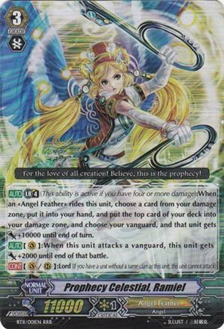 Cardfight Vanguard Seal Dragons Unleashed RRR Rare Prophecy Celestial, Ramiel BT11/001