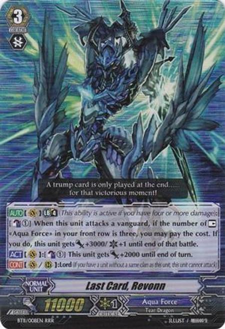 Cardfight Vanguard Seal Dragons Unleashed RRR Rare Last Card, Revonn BT11/008