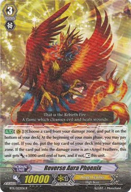Cardfight Vanguard Seal Dragons Unleashed Rare Reverse Aura Phoenix BT11/022
