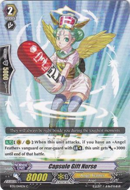 Cardfight Vanguard Seal Dragons Unleashed Common Capsule Gift Nurse BT11/044