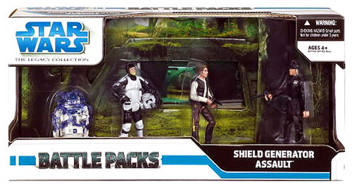 Star Wars Return of the Jedi Battle Packs 2008 Legacy Collection Assault on the Shield Generator Exclusive Action Figure Set