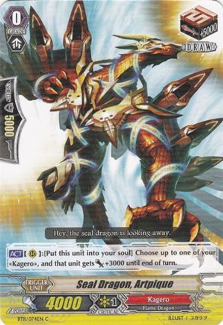 Cardfight Vanguard Seal Dragons Unleashed Common Seal Dragon, Artpique BT11/074