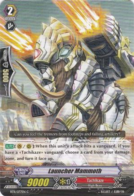 Cardfight Vanguard Seal Dragons Unleashed Common Launcher Mammoth BT11/077