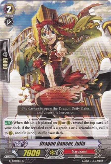 Cardfight Vanguard Seal Dragons Unleashed Common Dragon Dancer, Julia BT11/088