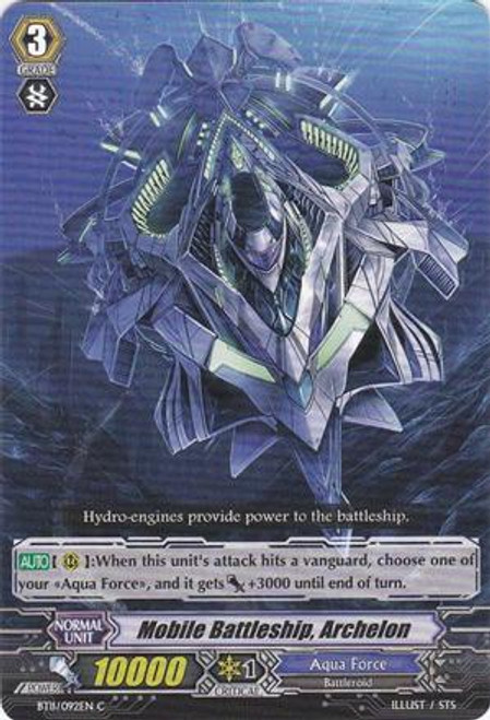Cardfight Vanguard Seal Dragons Unleashed Common Mobile Battleship, Archelon BT11/092