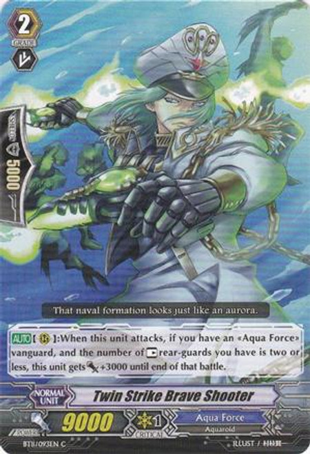 Cardfight Vanguard Seal Dragons Unleashed Common Twin Strike Brave Shooter BT11/093