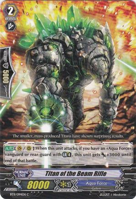 Cardfight Vanguard Seal Dragons Unleashed Common Titan of the Beam Rifle BT11/094