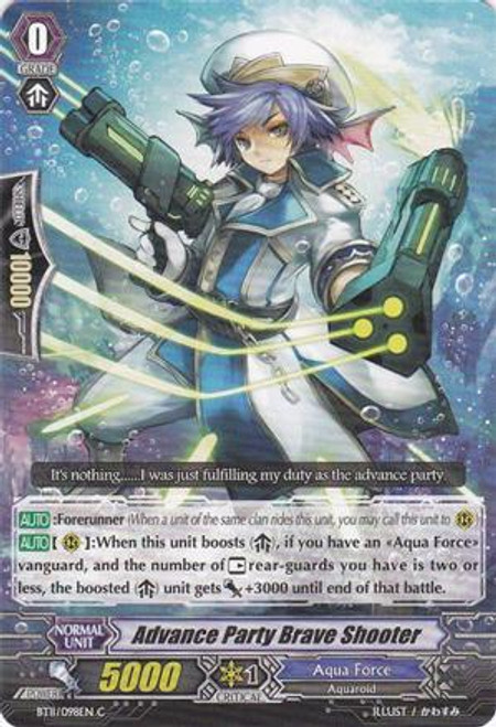 Cardfight Vanguard Seal Dragons Unleashed Common Advance Party Brave Shooter BT11/098