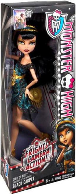 Monster High Frights, Camera, Action Black Carpet Cleo de Nile 10.5-Inch Doll [Black Carpet]