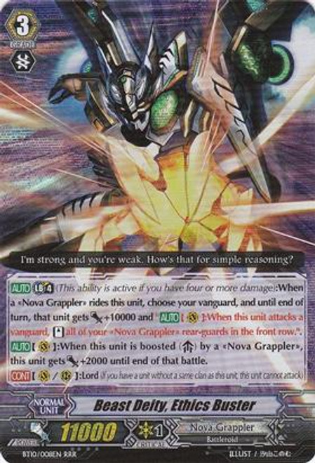 Cardfight Vanguard Triumphant Return of the King of Knights RRR Rare Beast Deity, Ethics Buster BT10/008