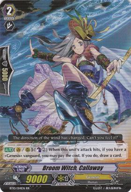 Cardfight Vanguard Triumphant Return of the King of Knights RR Rare Broom Witch, Callaway BT10/014