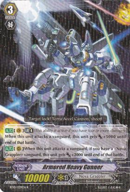 Cardfight Vanguard Triumphant Return of the King of Knights Rare Armored Heavy Gunner BT10/039