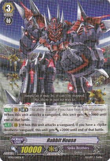 Cardfight Vanguard Triumphant Return of the King of Knights Rare Rabbit House BT10/041