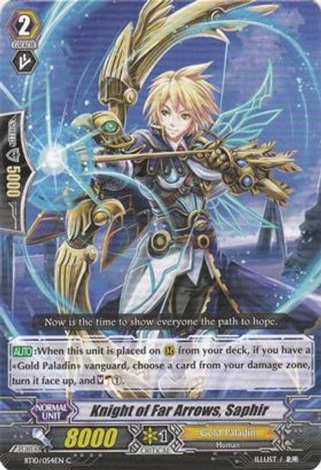Cardfight Vanguard Triumphant Return of the King of Knights Common Knight of Far Arrows, Saphir BT10/054