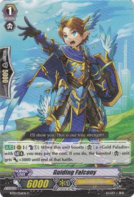 Cardfight Vanguard Triumphant Return of the King of Knights Common Guiding Falcony BT10/056