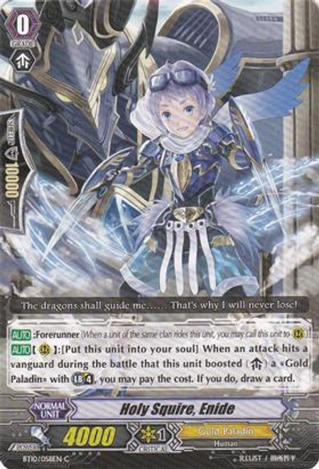 Cardfight Vanguard Triumphant Return of the King of Knights Common Holy Squire, Enide BT10/058