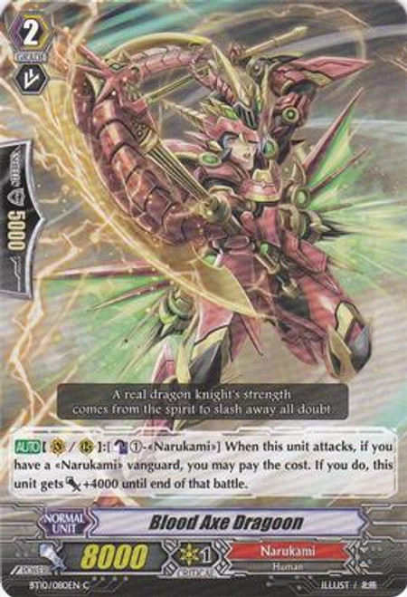 Cardfight Vanguard Triumphant Return of the King of Knights Common Blood Axe Dragoon BT10/080