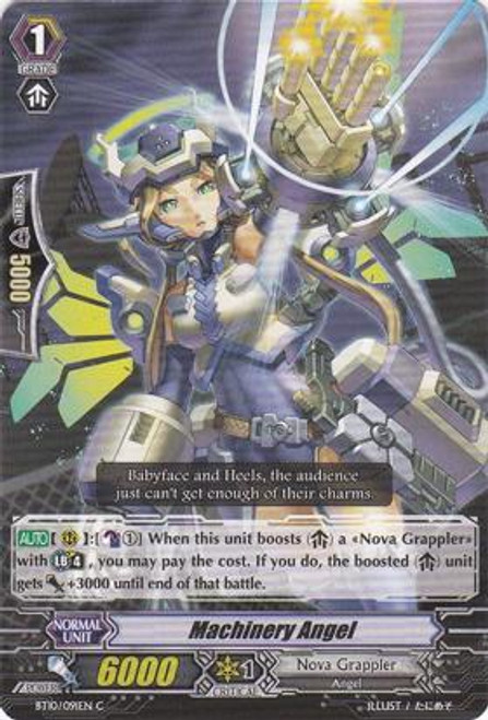 Cardfight Vanguard Triumphant Return of the King of Knights Common Machinery Angel BT10/091