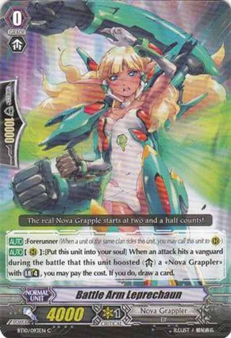 Cardfight Vanguard Triumphant Return of the King of Knights Common Battle Arm Leprechaun BT10/093