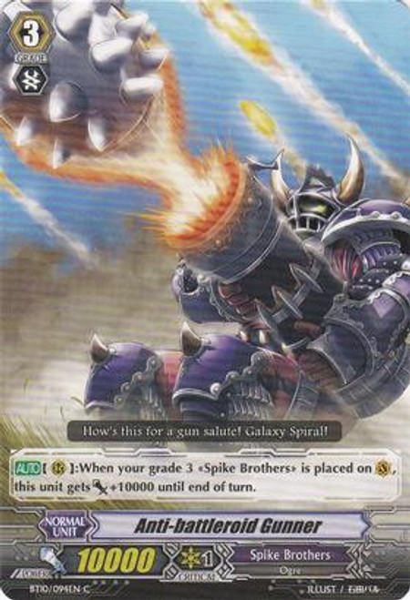 Cardfight Vanguard Triumphant Return of the King of Knights Common Anti-battleroid Gunner BT10/094