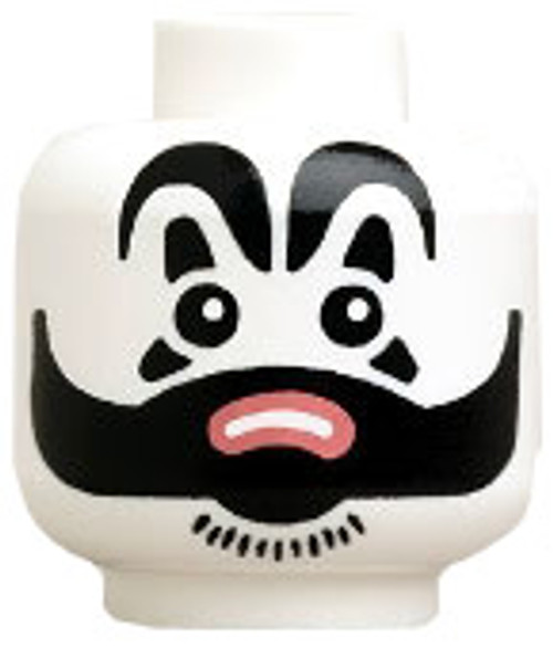 Citizen Brick Custom Printed Minifigure Parts Creepy Clown Loose Head [Loose]