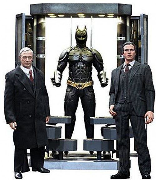 The Dark Knight Movie Masterpiece Batman Armory With Bruce Wayne & Alfred Pennyworth 1/6 Collectible Figure Set