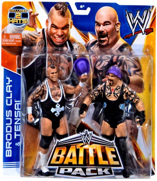 WWE Wrestling Series 27 Brodus Clay & Tensai Action Figure 2-Pack [2 Hats]