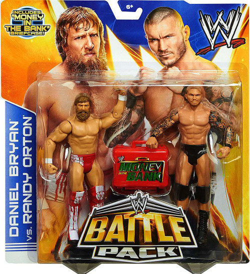 WWE Wrestling Series 27 Daniel Bryan vs. Randy Orton Action Figure 2-Pack [Money in the Bank Briefcase]