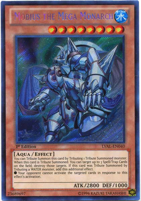 YuGiOh Zexal Legacy of the Valiant Secret Rare Mobius the Mega Monarch LVAL-EN040