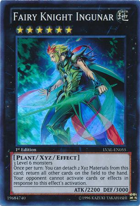 YuGiOh Zexal Legacy of the Valiant Super Rare Fairy Knight Ingunar LVAL-EN055
