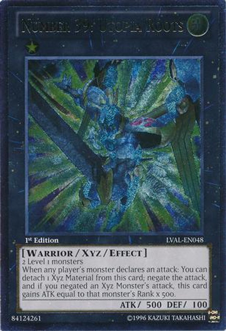 YuGiOh Zexal Legacy of the Valiant Ultimate Rare Number 39: Utopia Roots LVAL-EN048